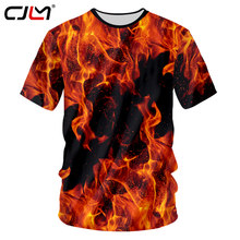 CJLM Nieuwe Zomer Top 3d T-shirts Print Red Fire Casual T-shirt Man Hiphop Outwears Shirts Homme Slim Fit Fitness Undershirts 7XL(Hong Kong,China)