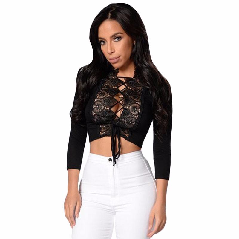 Black-Crochet-Lace-Trim-Lace-Up-Front-Crop-Top-LC25916-2-2