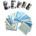 50pcs  Water Transfer Black White Lace of Nail Art Decals Sticker on Nails Decorations Salon Care Manicure Tools y_NC180