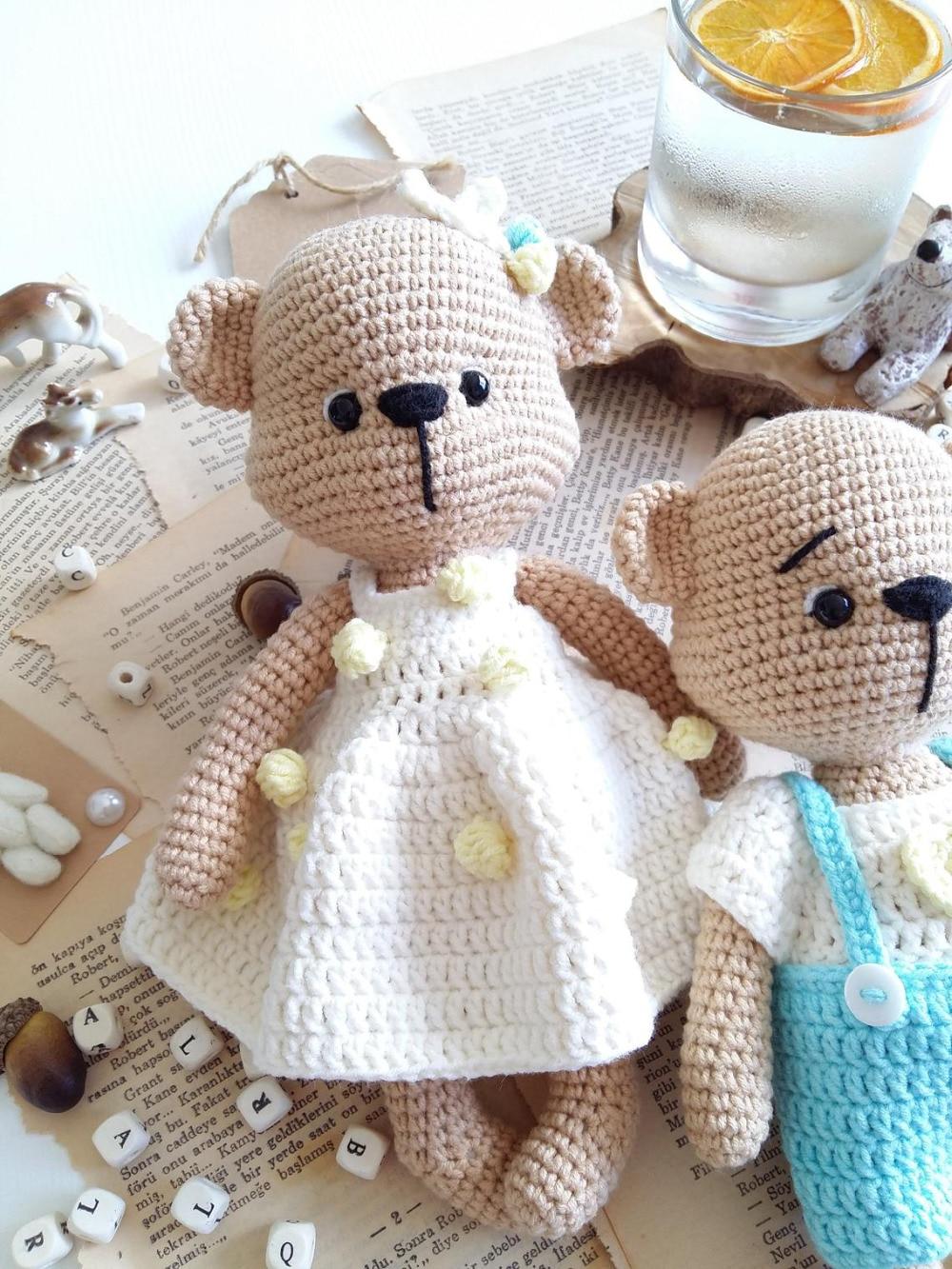 Crochet Toys  Amigurumi  Rattle Bear Lover  Model    Number  Wp013