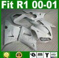 Low price Fairings for YAMAHA YZF R1 2000 2001 all white DIY plastic kit YZFR1 00 01 YZF1000 bodywork YZF-R1 fairing kits part