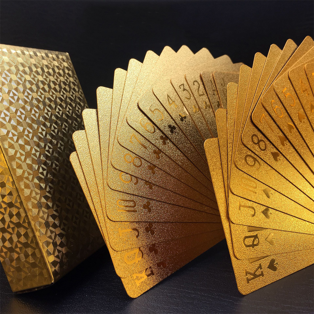 Creative Matte Waterproof Gold Plating Plastic Poker Table Game Cards PVC Dollar EURO Grid Printing Cards-in Playing Cards from Sports \u0026 Entertainment on ... & Creative Matte Waterproof Gold Plating Plastic Poker Table Game ...