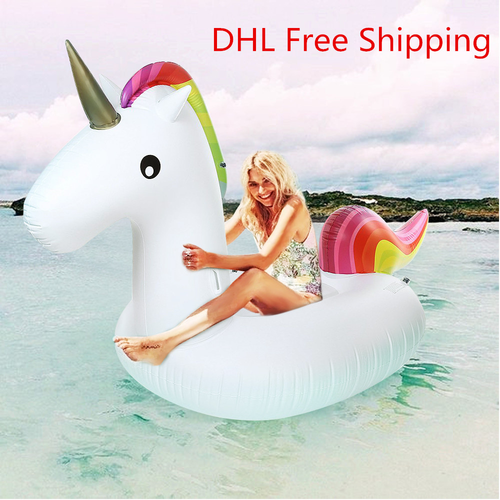 Inflatable Giant Unicorn Floating Rideable Air Mattresses Air Sofa Swimming Pool Toy Float Raft Beach Days Pool Party Raft inflatable giant pegasus floating rideable swimming pool toy float raft floating row white swan floating row for holiday water