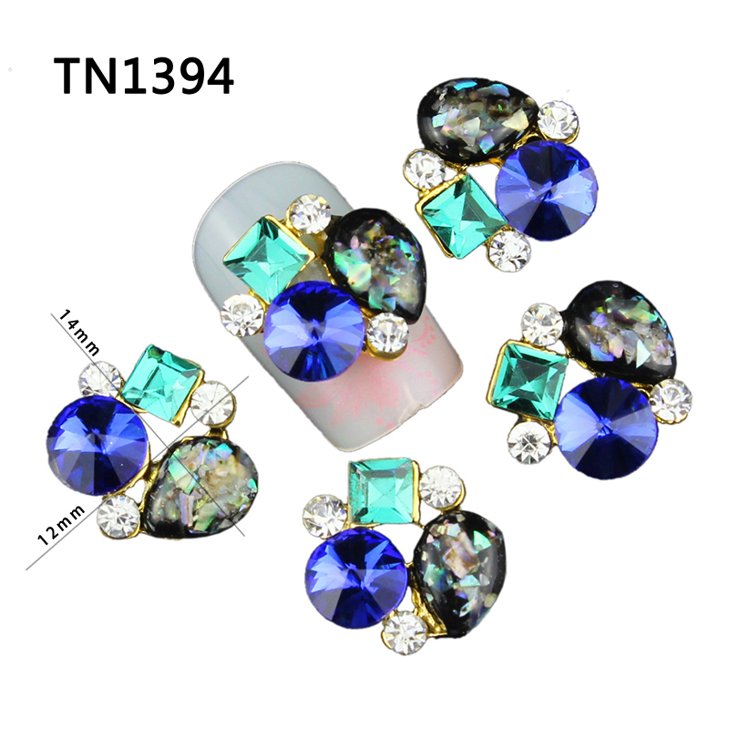 10pcs Glitter For 3d Nail Art Gold  Design Decorations Manicure Crystal Alloy Charms Rhinestones Nails Supplies Jewelry TN1394 2mm nail art jewelry rhinestones on nails strass 3d nail art decorations glitter rhinestones for nails crystal manicure zj1204