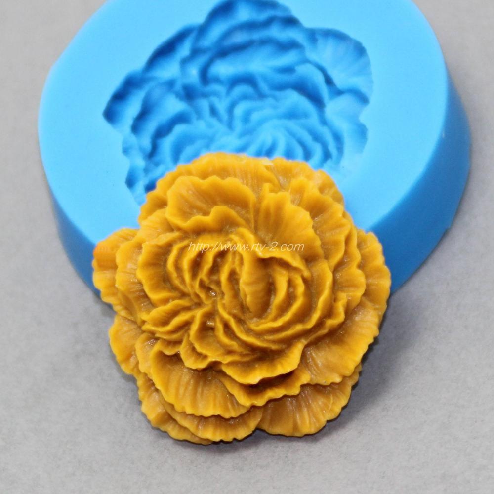 צורת פרח 3D סיליקון עובש פודנט עוגת קישוט כלי מזון כיתה חומר BKSILICONE D1007