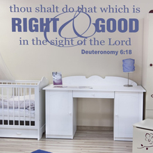 Stickers Christianity Right-and-Good-wall-decal-religious-wall-Decor Living Room Wall Art Home Decor Poster House Decoration