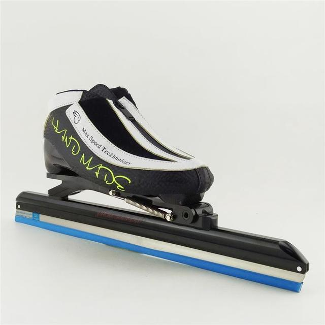 Patin glace de vitesse patin glace boot carbone boot longue piste de patinage - Patin antiderapant chaussure ...