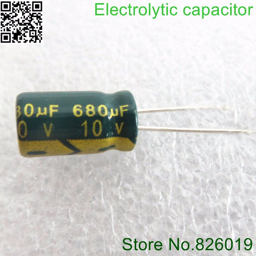 10v  680UF 6*12 High Frequency Low Impedance Aluminum Electrolytic Capacitor 680uf 10v 20%