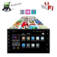 Универсальный Зеркало Ссылка Wi Fi DVD плеер Android 7,1 Bluetooth Автомобильный мультимедийный FM AM Авторадио руль управление 16G ROM