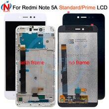 """5.5 """"720x1080 IPS 디스플레이 XIAOMI Redmi 참고 5A LCD 터치 스크린 Xiaomi Redmi 참고 5A 프라임 LCD Y1 / Y1 라이트"""