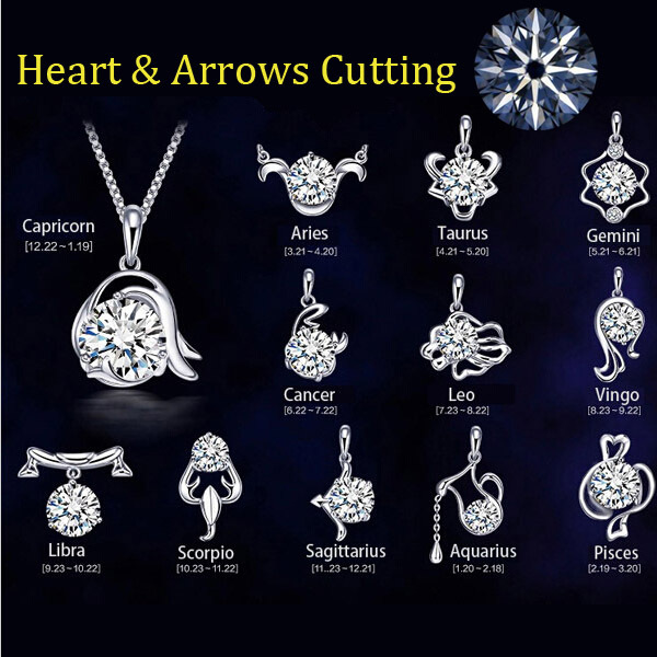 Aliexpress Com Buy 2 In 1 Constellations Pendant Amulet: Aliexpress.com : Buy 12 Constellation Silver Plated