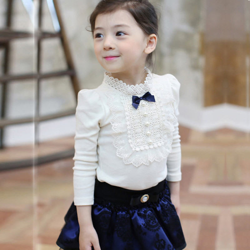 Free Shipping Spring Girls Long Sleeve Bud silk T Shirt candy color shirt pink and white