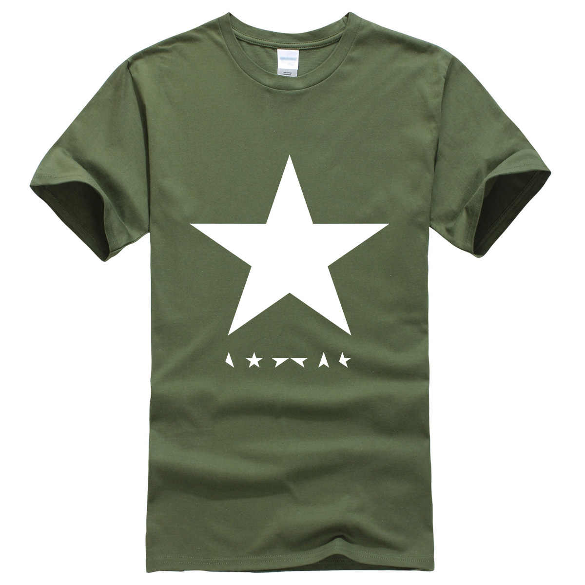4b3aed7da ... Hot summer 2019 men's T-shirts David Bowie heroes black star logo  fashion T- ...