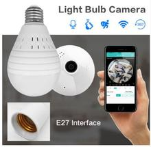 1080P Bulb Light Wireless IP Camera 3.0 MP 360 Degree Panoramic FishEye Security CCTV Camera Wifi P2P Motion Detection Camera IP wistino 1080p wifi camera nanny camera black p2p ip security clock ios android motion detection home security wireless camera