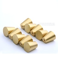 Solid brushed brass gold cabinet knobs and handles drawer  Furniture dresser Knobs Pull hardware-10Pack