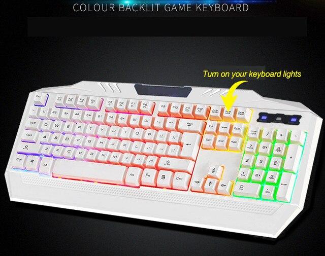 Toetsenbord Met Licht : Toetsen waterdichte bedrade usb gaming computer toetsenbord
