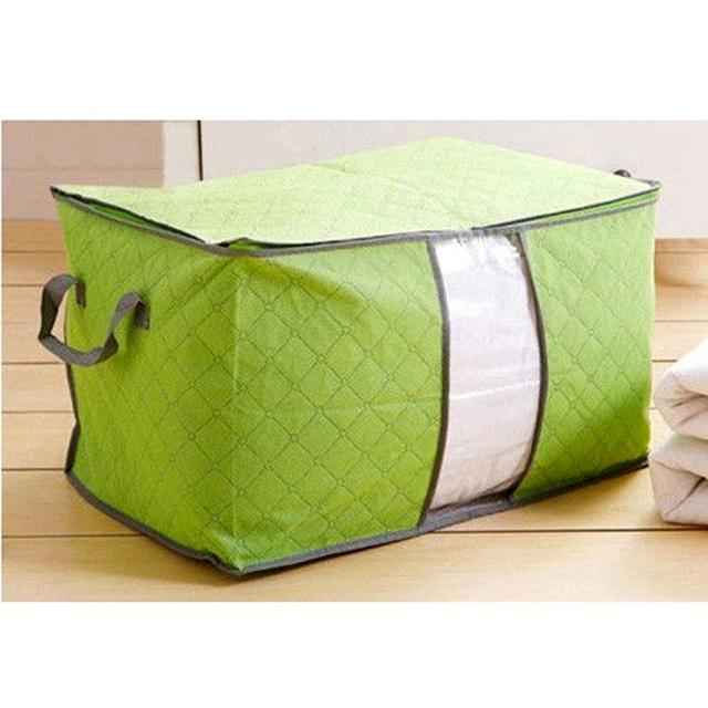 Pouch Organizer Green U Pick Foldable Storage Bag Clothes Blanket Pillow Quilt Closet Sweater Box Underbed