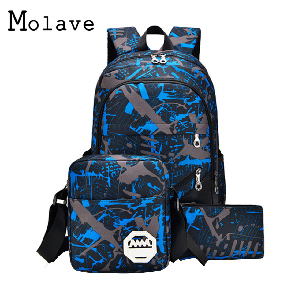 MOLAVE Brand Laptop Backpack Men's Travel Bags 2017 Multifunction Rucksack Waterproof Oxford School Backpacks Bolsa de ombro 830