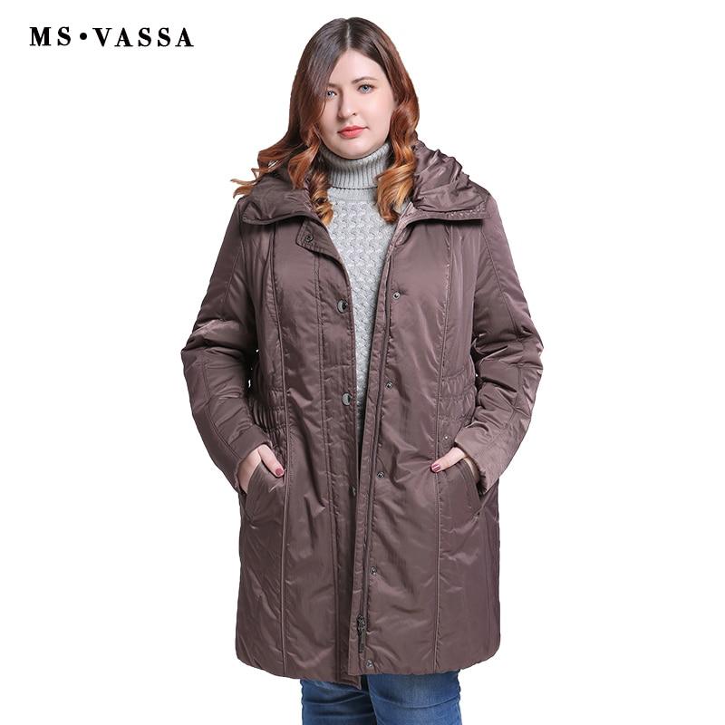 MS VASSA Big Size Winter Jacket Women Jackets Womens Coats Long Down Hoodies ukraine Turn down