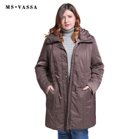 MS VASSA Big Size Winter Jacket Women Jackets Womens Coats Long Down Hoodies ukraine Turn down collar Parkas Plus Size XL 11XL