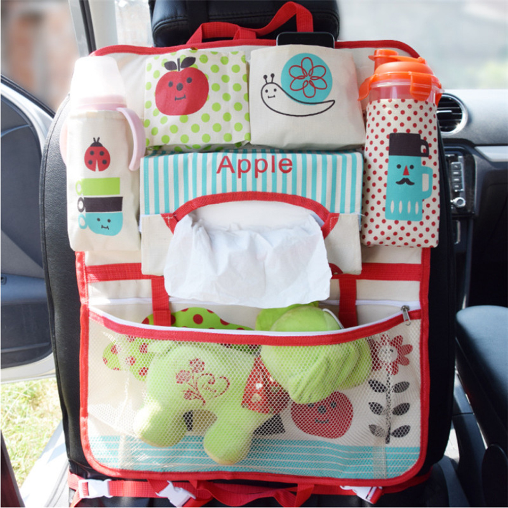 Child Seat Car Bag Waterproof Universal Baby Stroller Bag Organizer In Baby Car Hanging Basket Storage Stroller Accessories cartoon waterproof universal baby stroller bag organizer baby car hanging basket storage stroller accessories