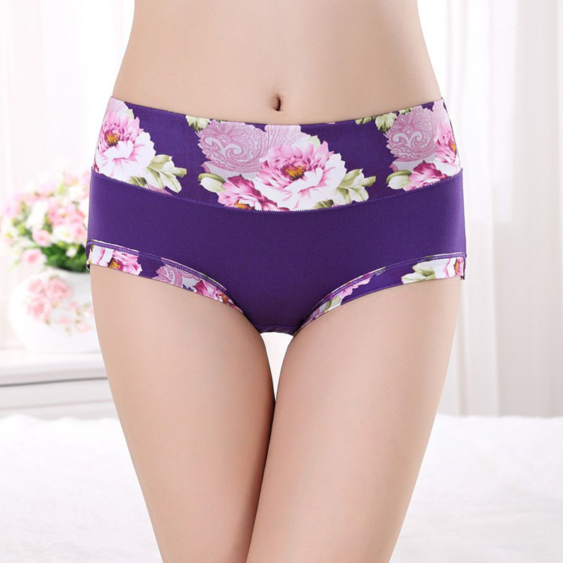 New   Panties   Women's Underwear Seamless Floral Briefs Cotton Underpants Printed Calcinhas Girls Sexy   Panty   Lingeries Ladies Boxer