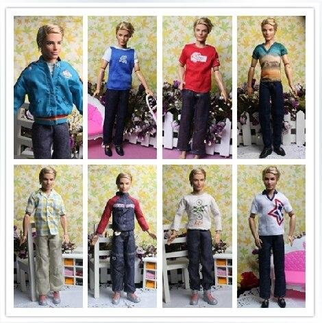 Free Shipping Male Dolls Denim Clothing Sets for Prince Ken Clothes For Boyfriend Dolls Boy Nice