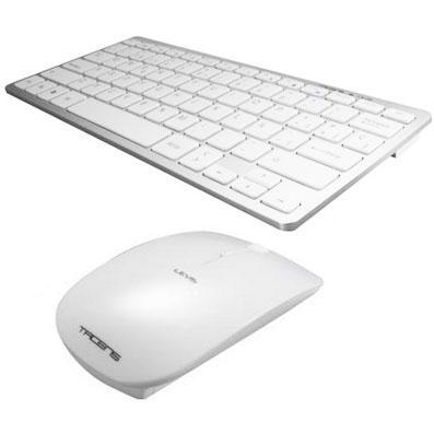 Pack teclado et souris sans fil 2,4 GHz Levis Combo V2 souris optique 1200-2000 Dpi couleur blanc teclado design design Col compact
