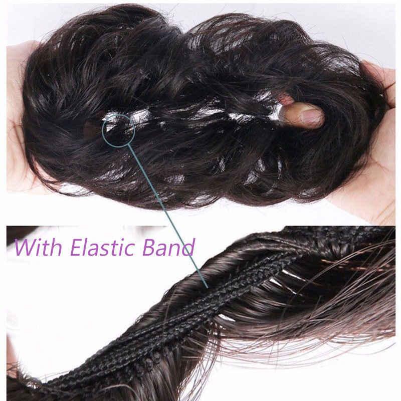 S-noilite синтетические шиньоны эластичная резинка для волос для наращивания лента для волос конский хвост пучки волос шиньоны скручивание