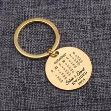 Stylish Round Shaped Customized Stainless Steel Keychain