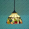 Tiffany Glass Chandelier Red Apple Lamp European Style Garden Living Room Chandelier DIA 20 CM H