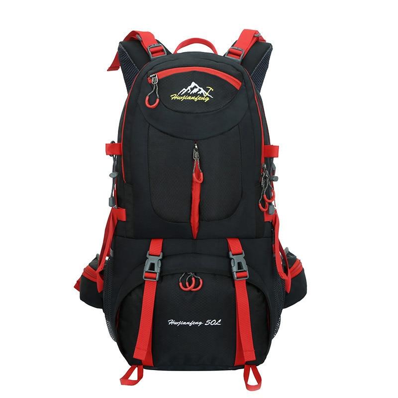 9250db5098 Hiking Backpack 50L Rucksacks Waterproof Backpack Men Outdoor Camping Backpack  Gym Bags Travel Bag Women Large
