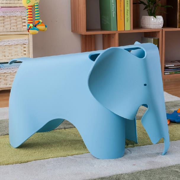 Kids Elephant Chair Baby Elephant Plastic Chair Toy Stool