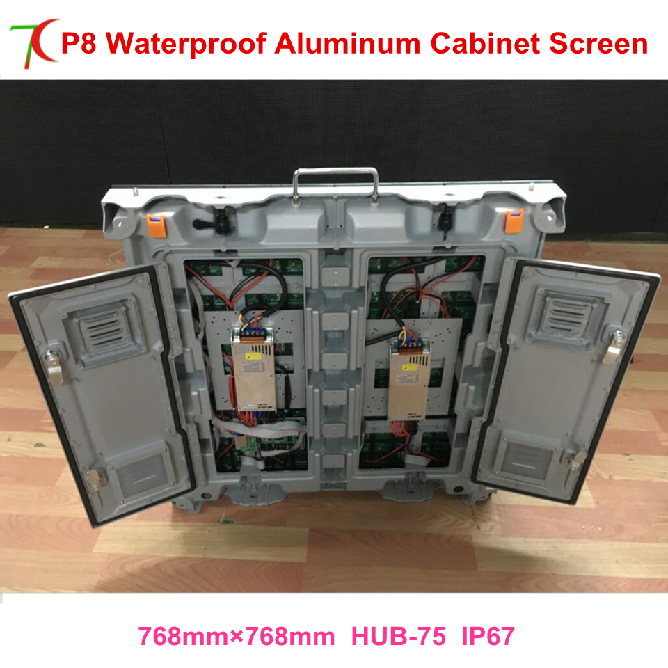 P8 Plug And Play Led Video Screen SMD Led Module Waterproof Outdoor Cabinets