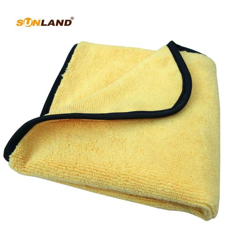 3PCS 360gsm 30cmx30cm פלוש Microfiber שני צדדים שונים טיפול רכב מגבת ניקוי אוטומטי המפרט שעווה ליטוש בגדים