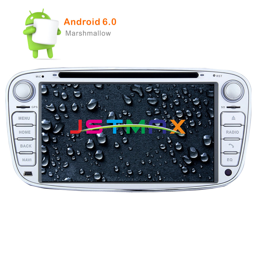 2 Din 7 Inch Android 6.0 8-Core Car DVD Player for FORD FOCUS 2 MONDEO S-MAX 2008-2011 With WIFI Radio GPS RDS BT 1080P 1024*600