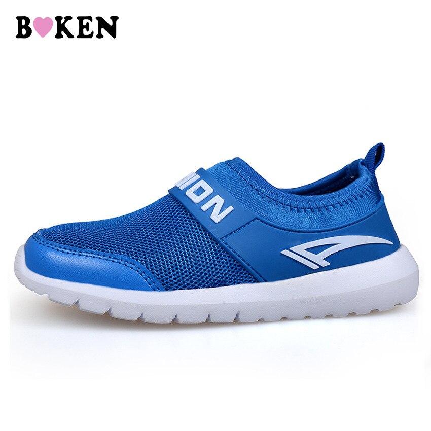 BOKEN Kids Sneaker Shoes Fashion Boy/Girl Shoes Children Breathable Mesh Shoes Causal Anti Skid Footwear