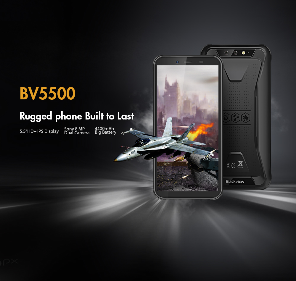 Original Blackview BV5500 5.5inch Android 8.1 Smartphone RAM 2GB ROM 16GB MTK6580P Quad Core Dual SIM OTG GPS 3G Mobile Phones - 5