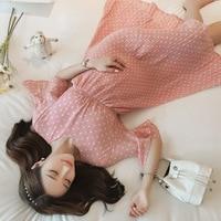 korean pregnancy Print Chiffon Maternity Dress 2019 Summer Korean Fashion Clothes for Pregnant Women Floral Pregnancy Clothing