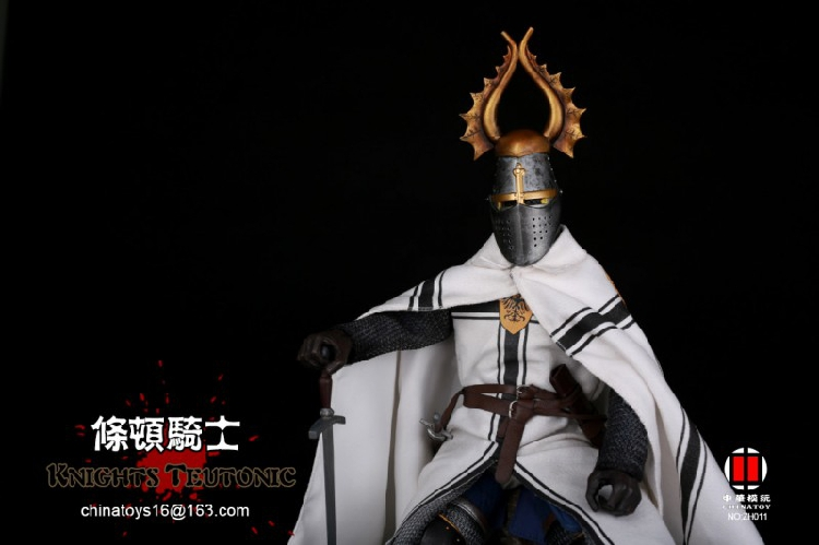 "China Toys ZH011 1//6 Scale Teutonic Knights Soldier 12/"" Action Figure Cloak"