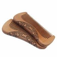 Pork combs natural green sandalwood very narrow teeth comb no static lice beard hair comb style
