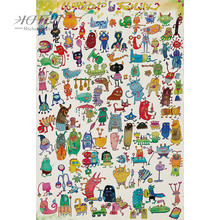 Michelangelo Wooden Jigsaw Puzzles 500 1000 1500 2000 Pieces Monster Family Cartoon Animals Educational Toy Painting Home Decor michelangelo wooden jigsaw puzzles 500 1000 1500 2000 pieces old master lotus flower mandarin duck shen quan art educational toy