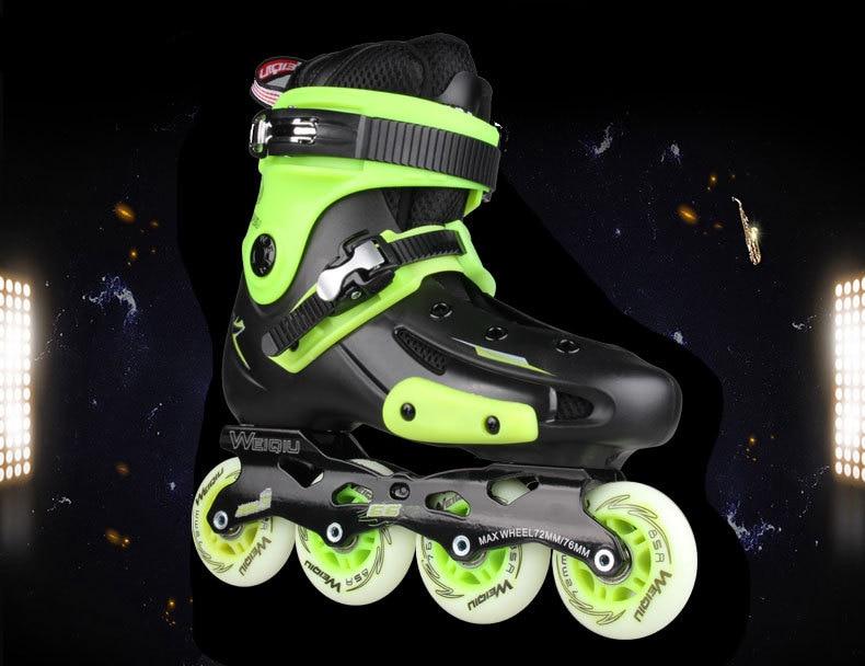 US $81.84 18% OFF|PRO Inline Skates Erwachsene Ice Skate Schuhe PPC Rollschuh Schuhe Pro Männer oder Frauen Figur Skating Slalom Schuhe in