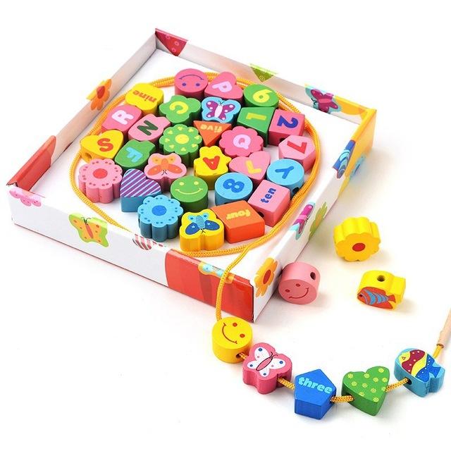 36 pcs De Madeira Montessori Preschool Brinquedo Material de Matemática para Crianças dos miúdos Combinando Digital Placa Juguetes W003