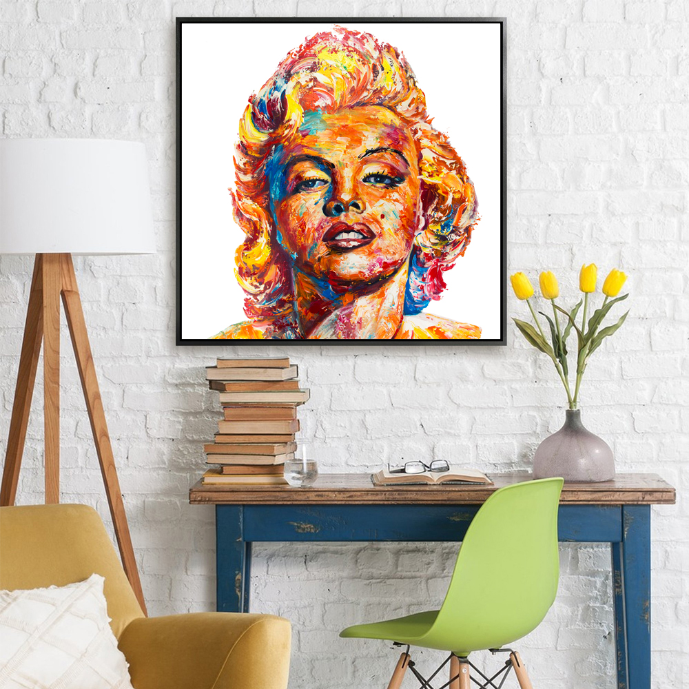 Palette Decoration Us 58 Modern Art Palette Knife Painting Marilyn Monroe Texture Oil Painting On Canvas For Home Decoration Wall In Painting Calligraphy From