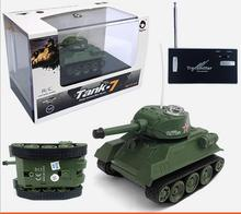 Hot sell 777-215 Wireless control Military model toy tank 4CH Infrared Mini simulation RC Tank with LED Light for kids gift toy