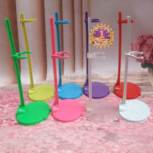 wholesale 20pcs/slot pink red blue yellow white black green Stand for Monster High dolls stand Display Holder For Barbie Dolls