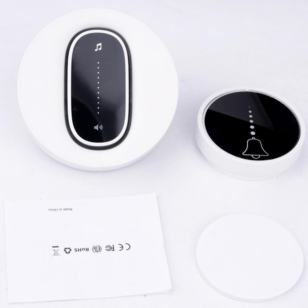 SMATRUL self powered Waterproof Wireless DoorBell night light no battery EU plug home Cordless Door Bell 1 2 button 1 2 Receiver 10