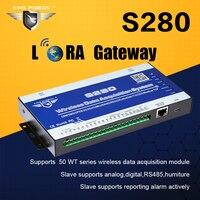 Беспроводной LoRa шлюз GSM 3g сбора данных Системы Modbus RTU мастер поддерживает РФ 433 Mhz SMS контроллер сигнализации S280