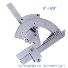 Angle Ruler 0-320 Degree Universal Protractor Carbon Steel Goniometer Angle Finder Measuring Tools for Measure Inner/Outer Angle